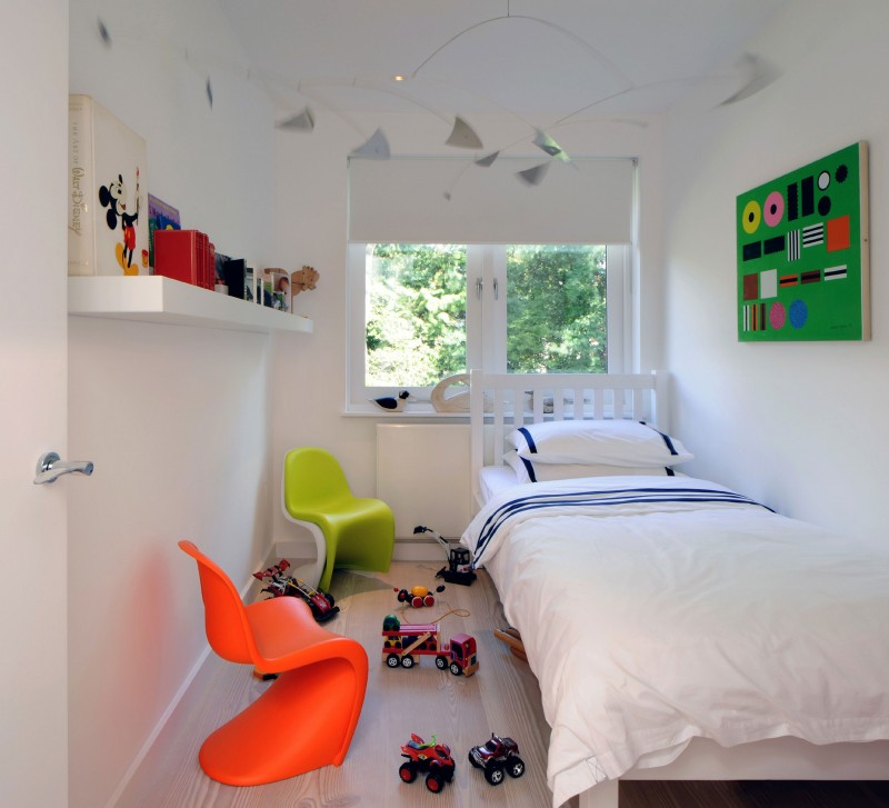 Modern Kids' room with colorful additions