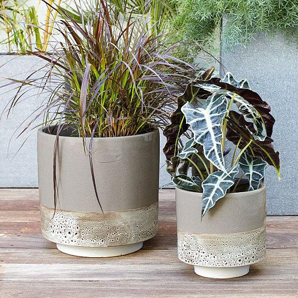 Modern glazed planters
