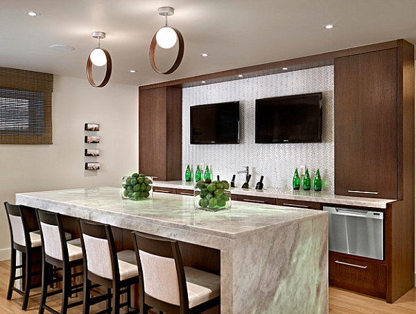 Modern kitchen island bar