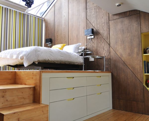 view in gallery modern loft bed perfect for small bedrooms - Very Small Bedroom Design Ideas