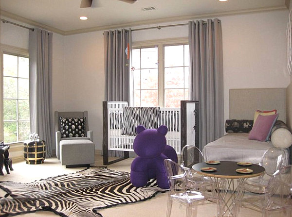 Modern nursery with bed