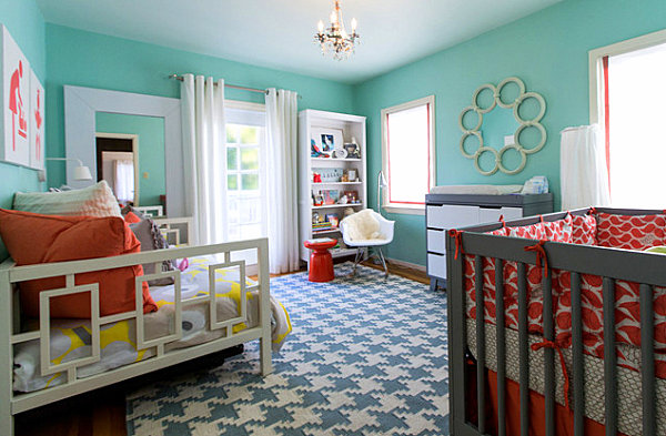 Modern nursery with daybed