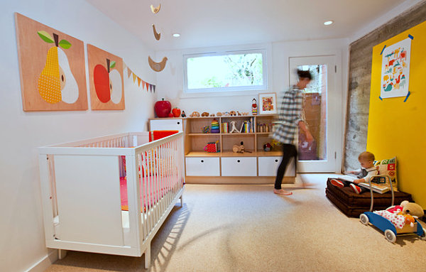 Modern nursery wth fruit art Delicious Design: More Ideas for Decorating with Fruit Themes