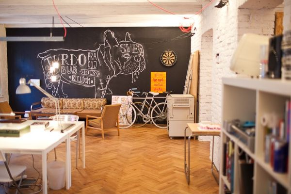 Old flat in Bratislava converted into an ergonomic office space