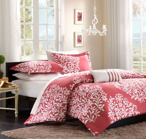 Opt for a bolder shade of pink when choosing bedding for a teen girls' room