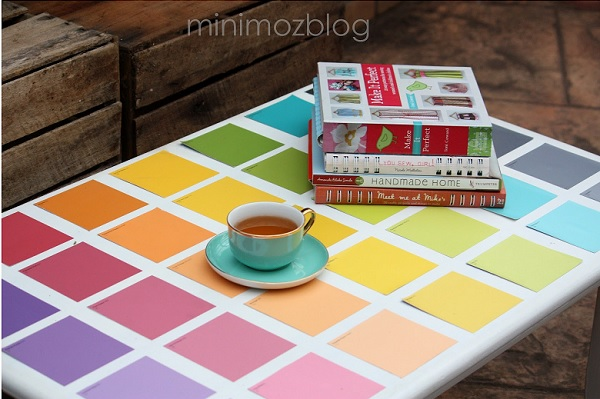 Paint chip table DIY