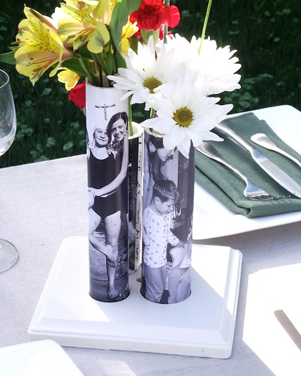 Photograph pvc pipe vases