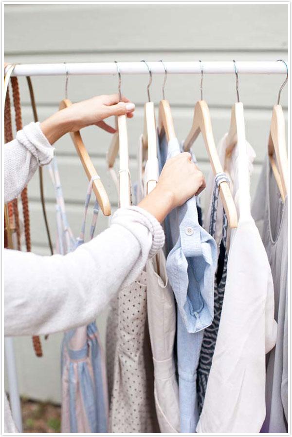 Pipe garment rack DIY