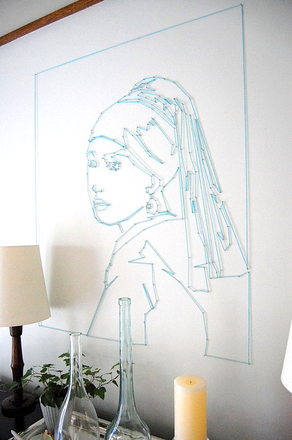 Portrait string wall art DIY