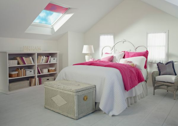 Pristine white backdrop with single accent tone can create bright and beautiful bedrooms