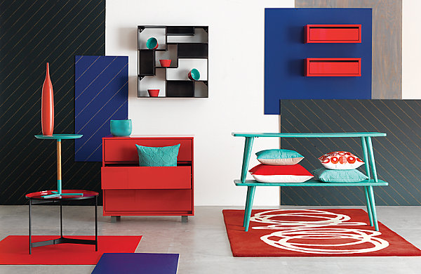 Red and blue finds from CB2 Autumn Preview: Retailers Begin Showcasing Fall Decor
