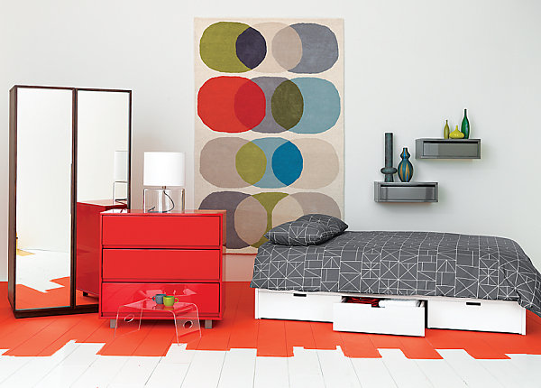 Red lacquered chest Autumn Preview: Retailers Begin Showcasing Fall Decor