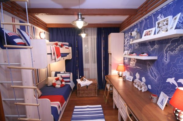 Red, white and blue can be easily transformed into a nautical theme when needed