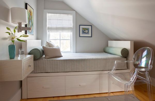 Resourcefulness of the daybed showcased in the small attic room