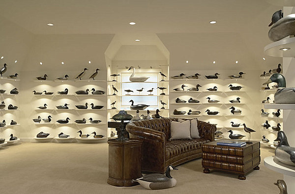 Room filled with duck decoys How to Display a Collection with Flair