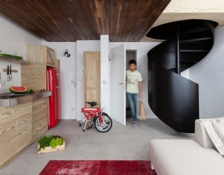 Small Apartment in Sao Paulo Turned Into A Savvy Bachelor Pad