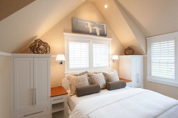 Scone lighting is a good choice for bedrooms short on space
