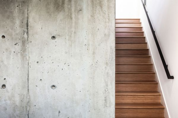 Simple and elegant wooden staircase
