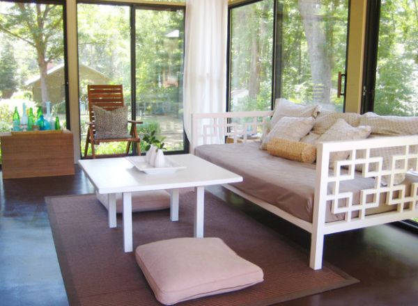 Sink into the daybed as you take in the sights and sounds outside