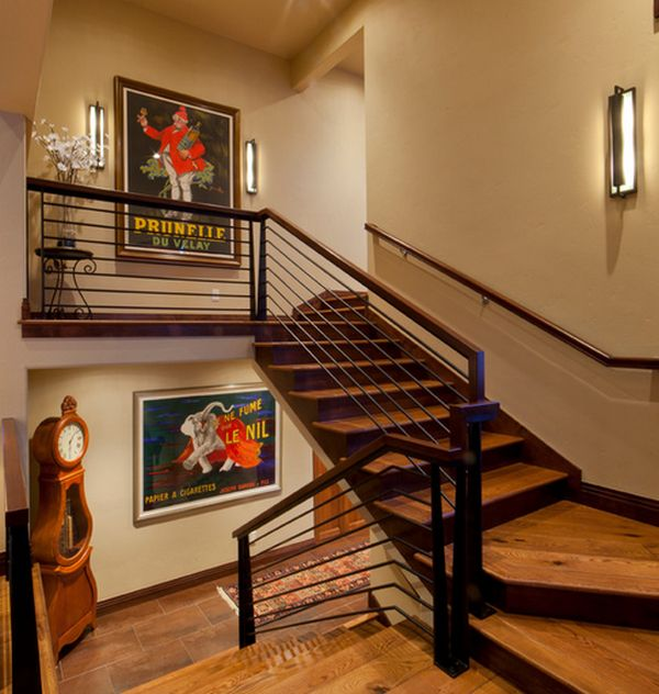 Staircase landings are great areas to display your favorite posters