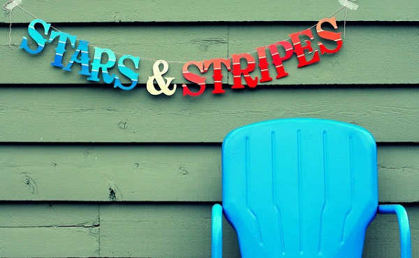 Stars and stripes paint sample banner Paint Chips Spawn Delightful DIY Projects