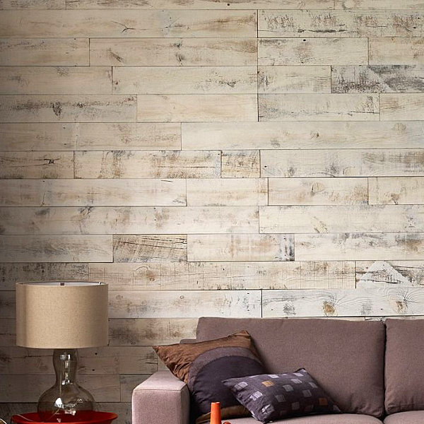 Stikwood paneling from West Elm