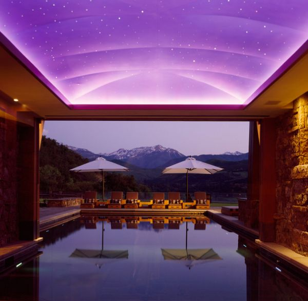 Stunning ceiling above the pool leaves you speechless