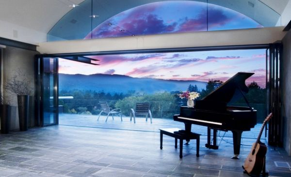 Stunning living room offers an inspirational view for some sweeping tunes Musical Instruments Create Harmony In Your Home Ambiance