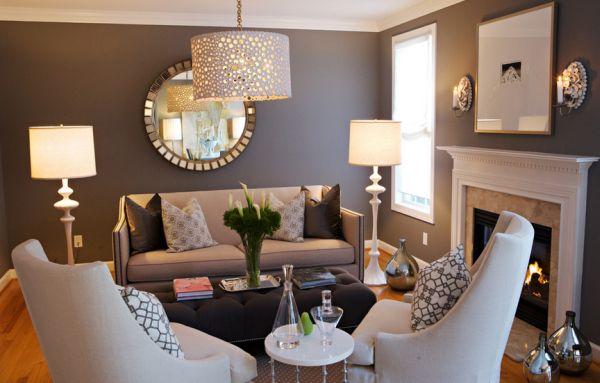 stylish lighting living. stylish living room uses the mirror to accentuate lighting decoist