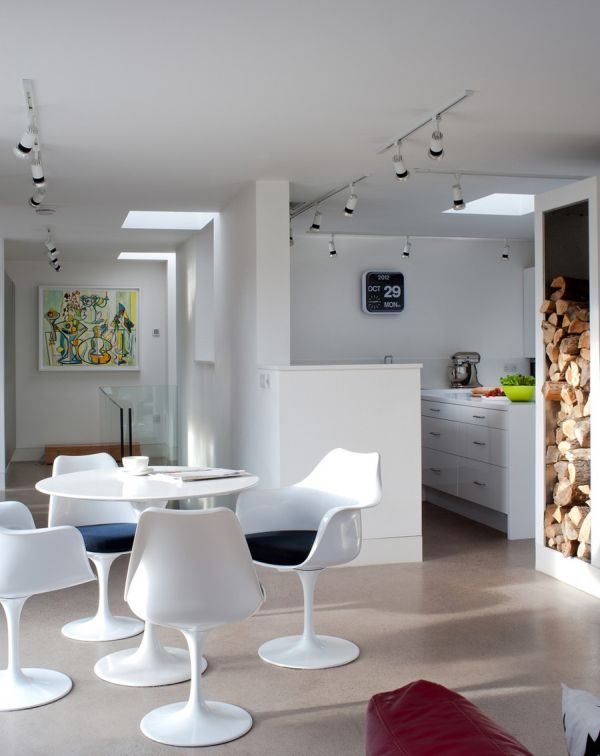 Stylish modern decor inside the Green Orchid home