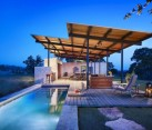 Stylish pool also helps in cooling the residence