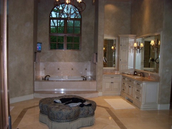 Wonderful bathroom with privacy film