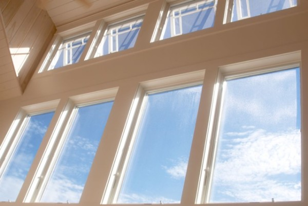 High tech nanoceramic film combined with upper ventilation windows