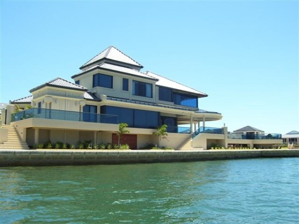 Beautiful home on the water protected with high tech film