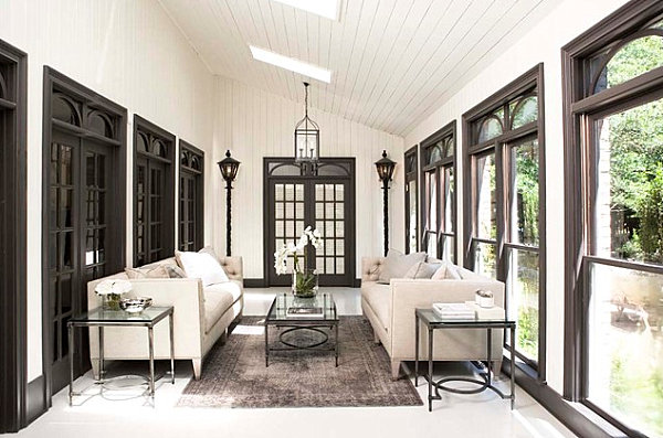 Sunroom in neutral tones