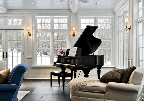 Sunroom meets music room