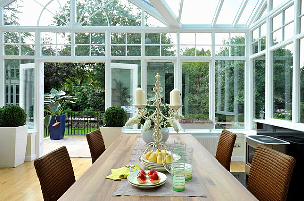 Sunroom with charming details