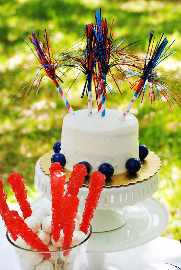Tinsel sparkler cake toppers