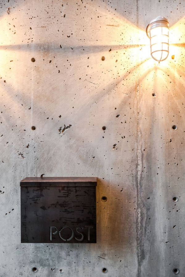 Toned down wall sports an industrial charm