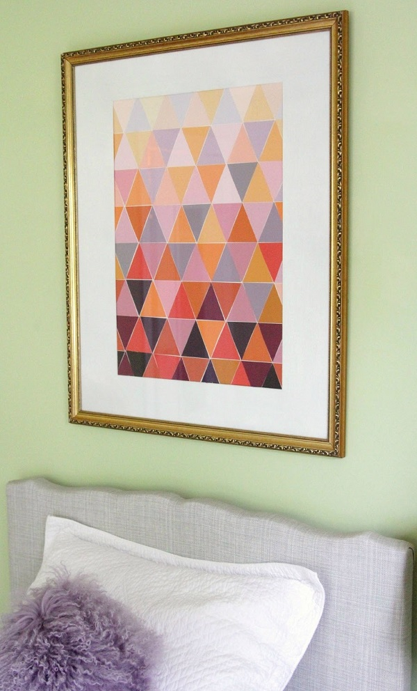 Triangle mosaic wall art DIY