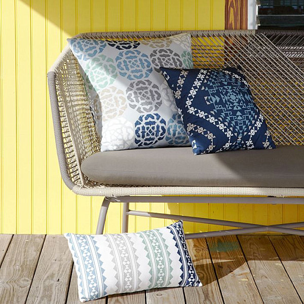 Tribal-style pillows from West Elm