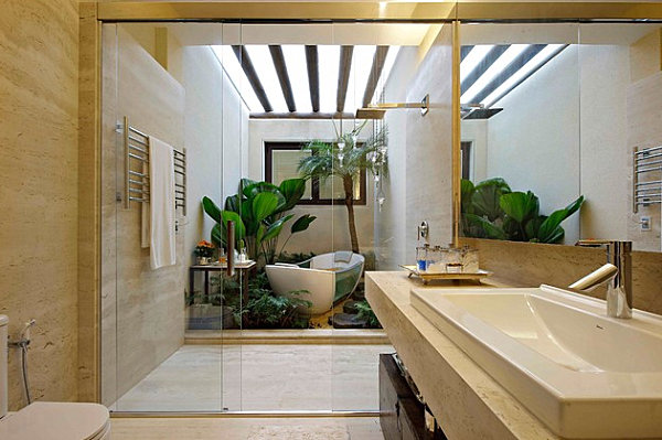 View In Gallery Tropical Modern Bathroom