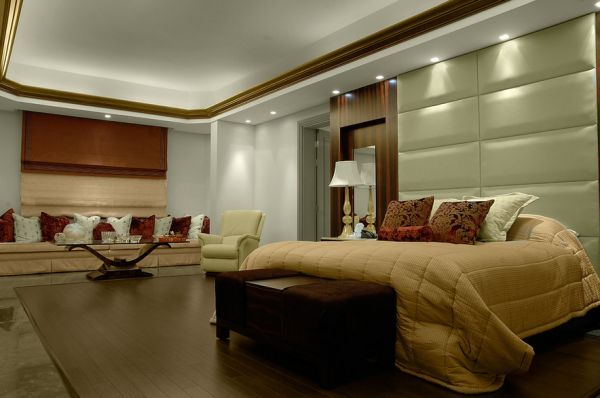 Usher in relaxed and soothing atmosphere in the bedroom with recessed lights