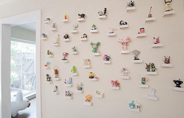 Wall of vinyl toys
