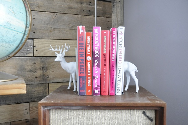 White deer bookend DIY