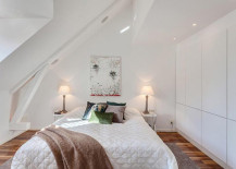 White is a popular choice for small bedrooms!
