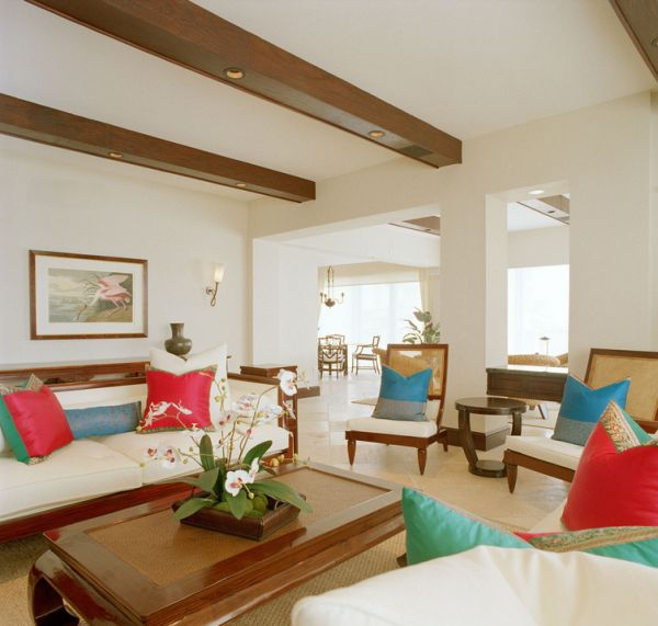 Wooden beams allow you to add recessed lighting with ease and elegance!