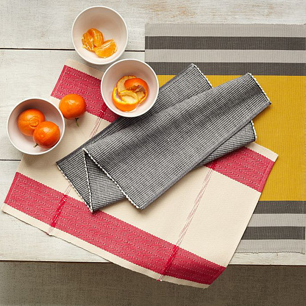 Woven placemats from West Elm