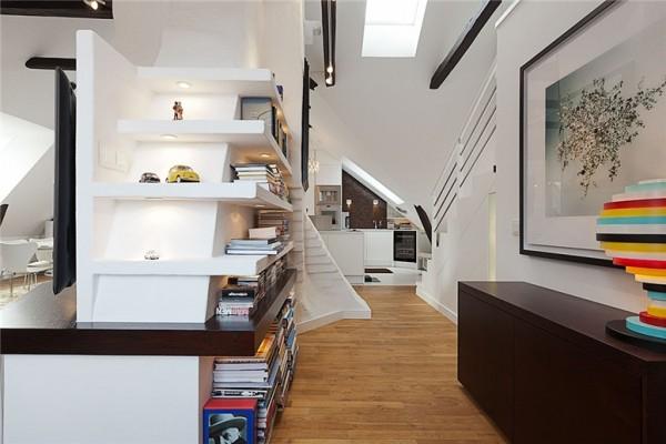 all white walls apartment