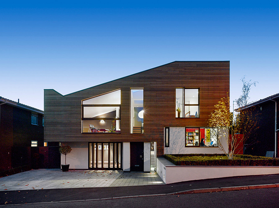 beautiful modern home Manchester Residence Gets a Modern Makeover Encased in Warm Wooden Tones